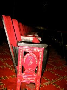 Stühle im Ziegfeld Theatre © Ed Solero, http://cinematreasures.org/theaters/12/photos/10268