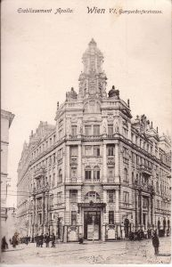 Apollo-Theater um 1905 © https://de.wikipedia.org/wiki/Apollo_Kino_(Wien)#/media/File:ApolloVienna.jpg