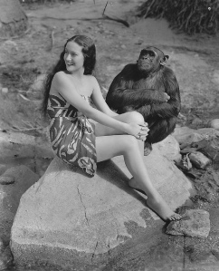 Dorothy Lamour und ihr tierischer Filmpartner in