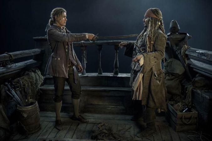 PiratesOfTheCaribbeanSalazarsRache_BrentonThwaites, Johnny Depp (c) The Walt Disney Company France
